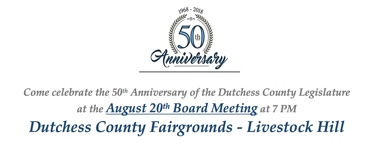 Dutchess County Legislature 50th Anniversary Header/Logo