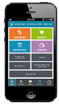 Download Vaccines On The Go to your iPhone or Android smartphone and get access to immunization schedules and vaccine information on your phone