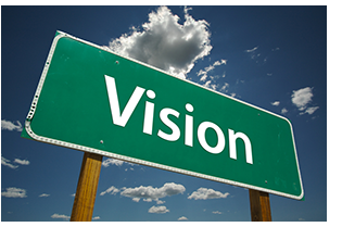 Vision road sign photo