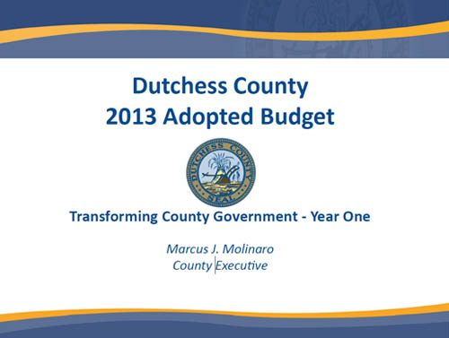 2013 Dutchess County Budget