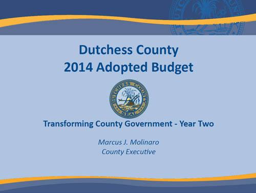 2014 Dutchess County Budget
