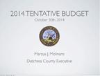 2014 Tentative Budget Presentation