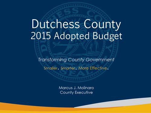 2015 Dutchess County Budget