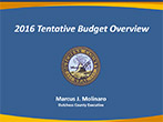 2016 Tentative Budget Overview