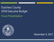 2018 Executive Budget Presentation