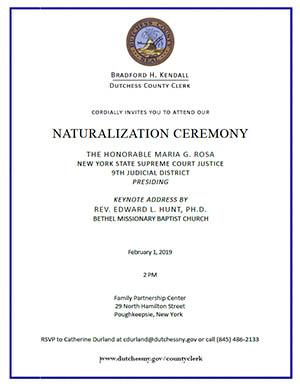 Naturalization Ceremony Invitation Image