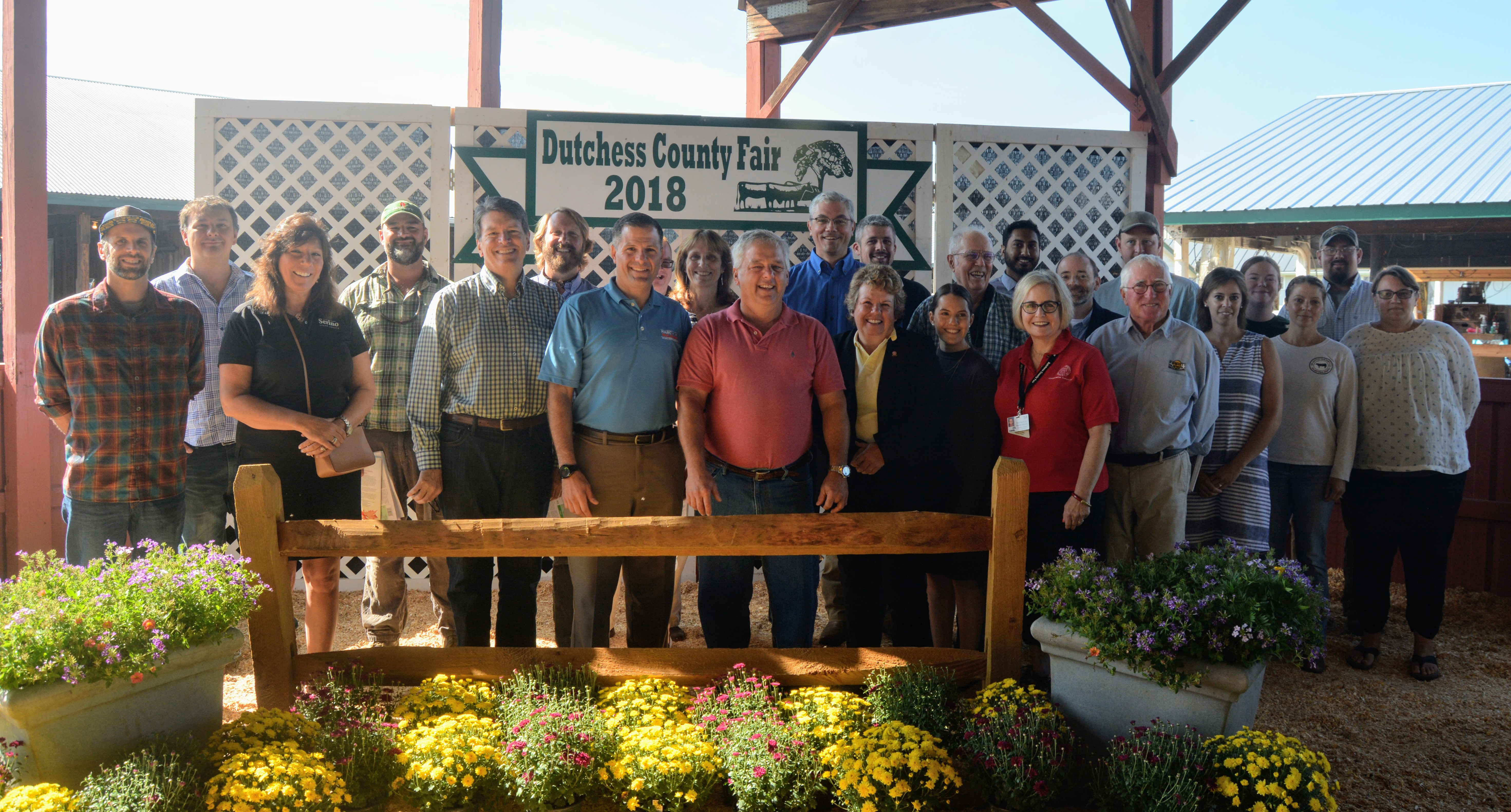 Dutchess County Executive Marc Molinaro, members of the Dutchess County Agricultural Advisory Committee and other local representatives and elected officials attended today's fourth annual agricultural forum at the Dutchess County Fairgrounds in Rhinebeck.