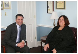 County Executive Molinaro with CSEA President Liz Piraino