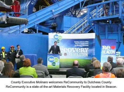 County Executive Molinaro welcoming ReCommunity to Dutchess County