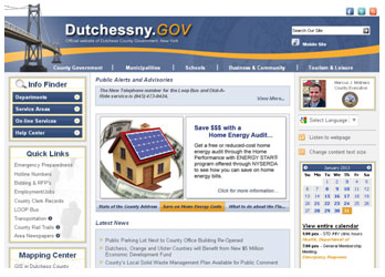DutchessNY.gov home page screenshot