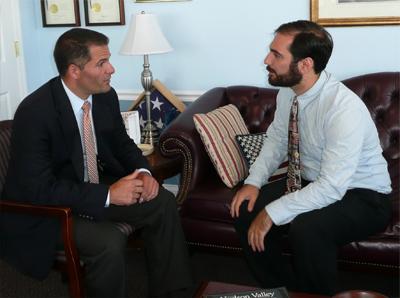 County Executive Molinaro sitting with Mayor Avitabile