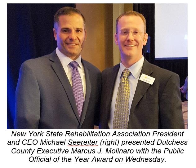County Executive Molinaro with NYS Rehabilitation representative