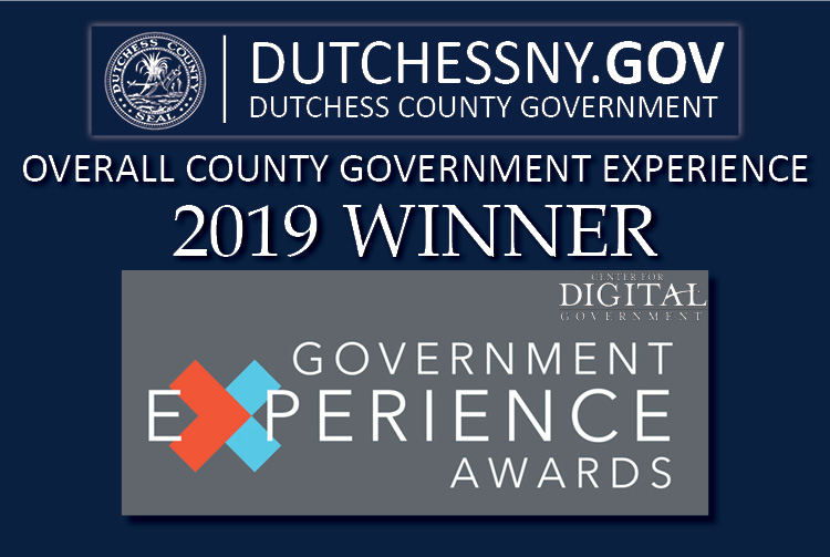 Dutchess County's recently redesigned DutchessNY.gov website has been honored with a 2019 Government Experience Award from the Center for Digital Government.