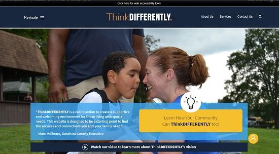 Screenshot of the ThinkDIFFERENTLY.net website