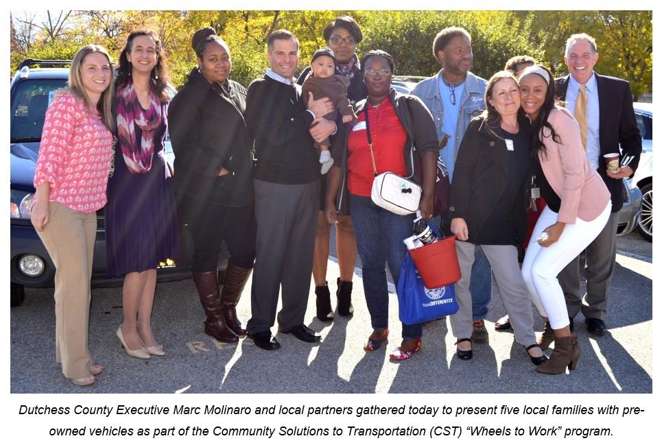 County Executive Molinaro with Wheels to Work recipients