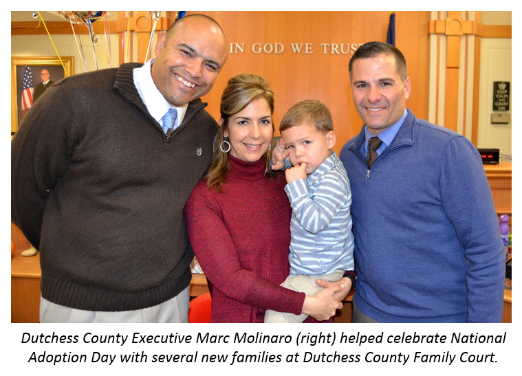 County Executive Molinaro and new family