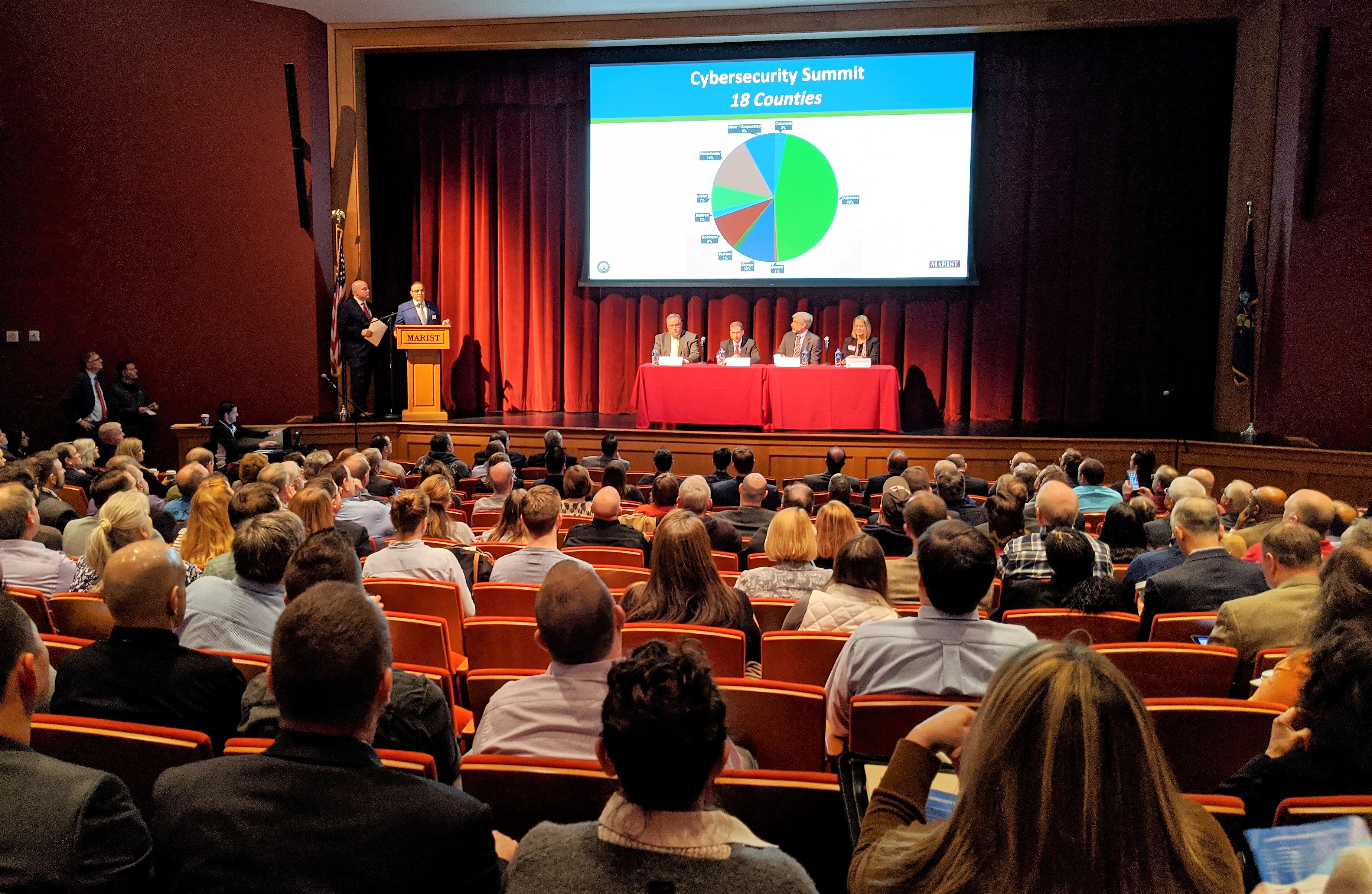 Nearly 300 attended the inaugural Hudson Valley Cyber Security Summit at Marist College.