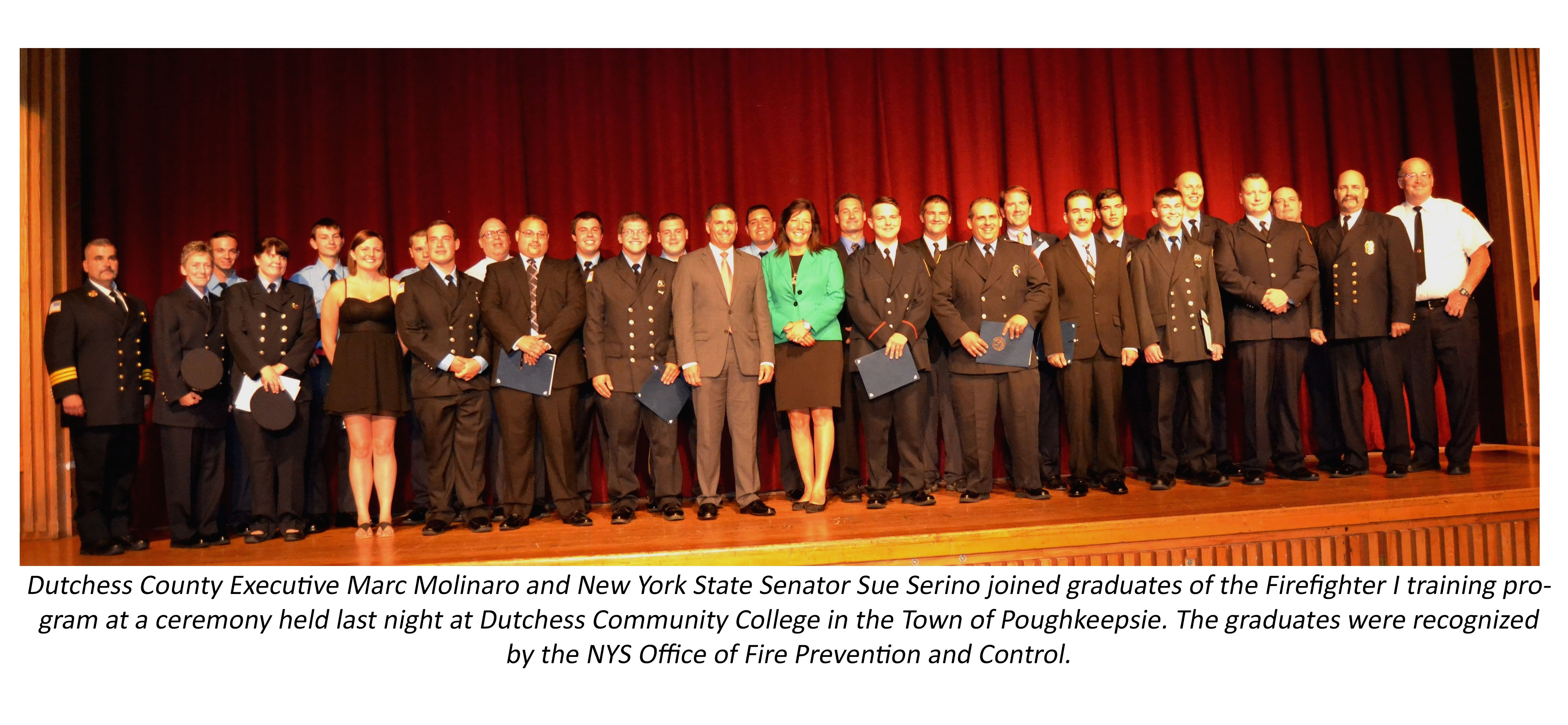 County Executive Molinaro with Firefighter 1 graduates