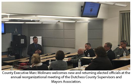 County Executive Molinaro with mayors and supervisors