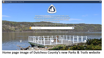 Home page image of Dutchess County's new Parks & Trails site