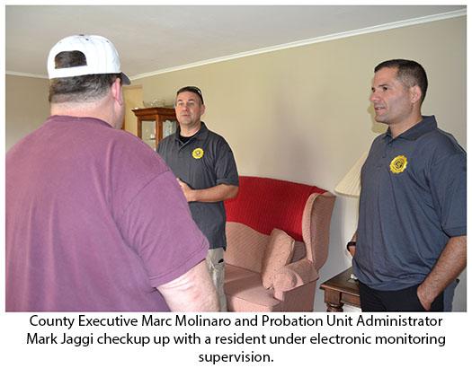 County Executive Molinaro with Probation Unit Administrator