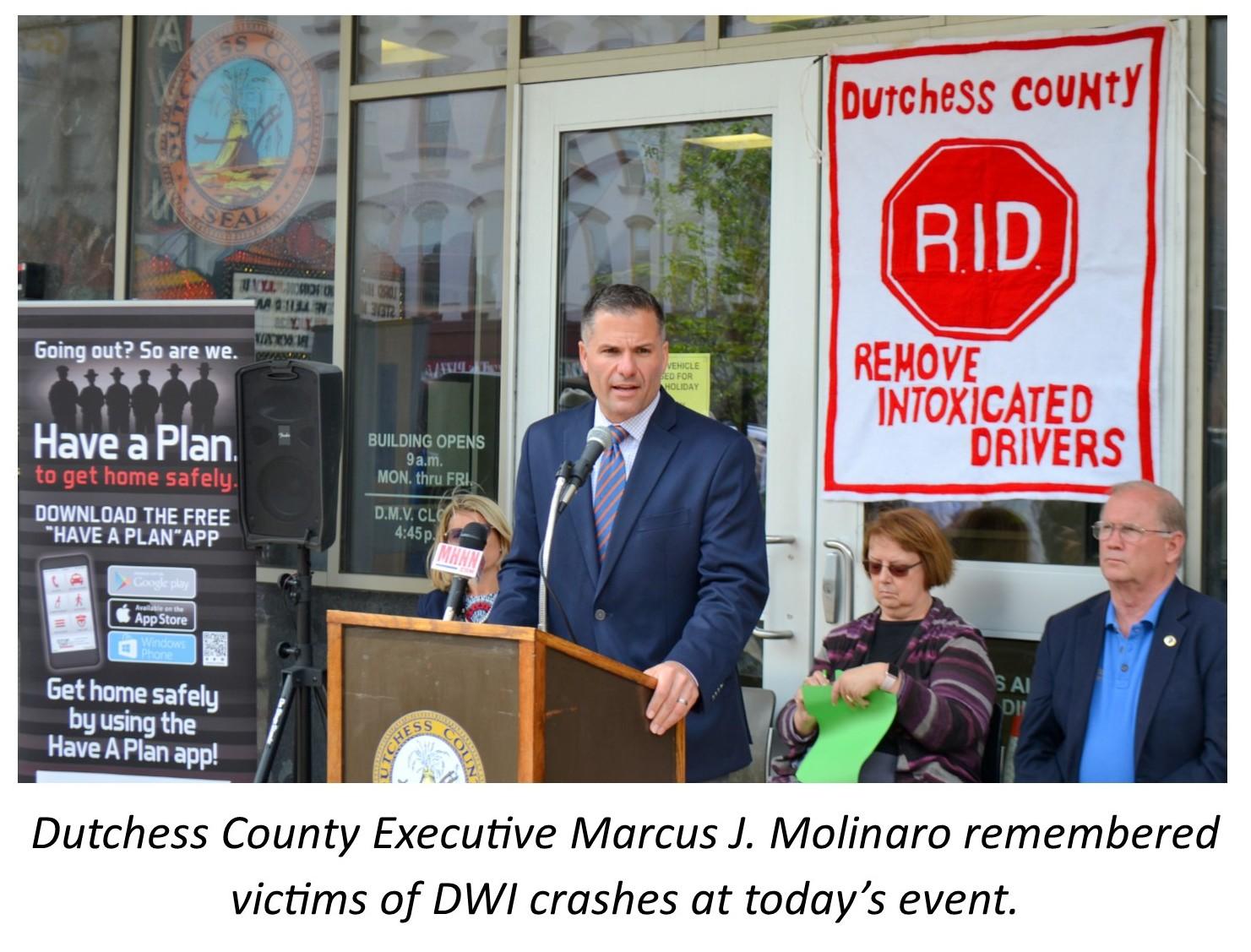 County Executive Molinaro at RID Ceremony