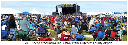 Concert goers at Speed of Sound Music festival at County Airport