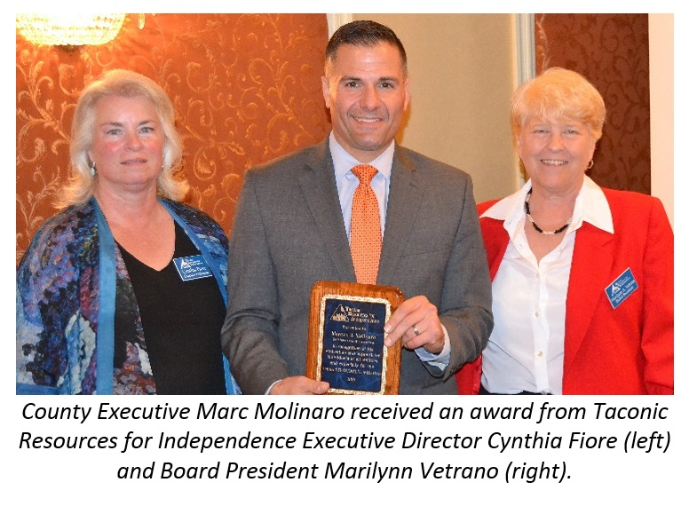 County Executive Molinaro with Taconic Resources for Independence representatives