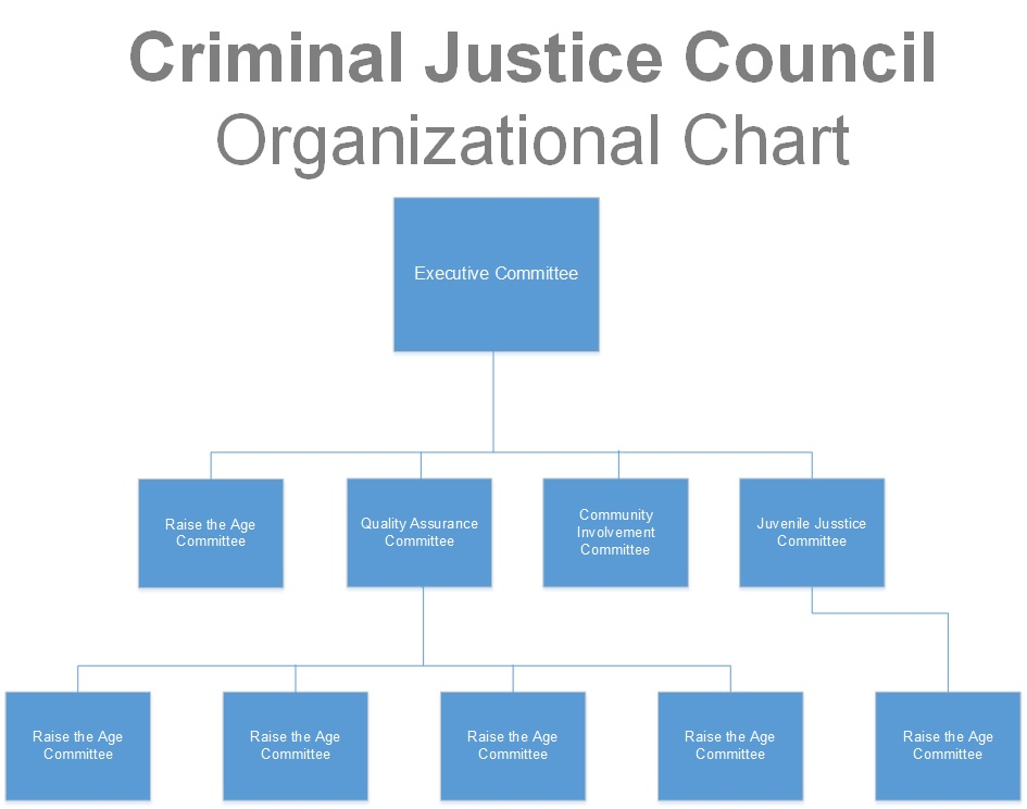 Criminal Justice Council Org Chart