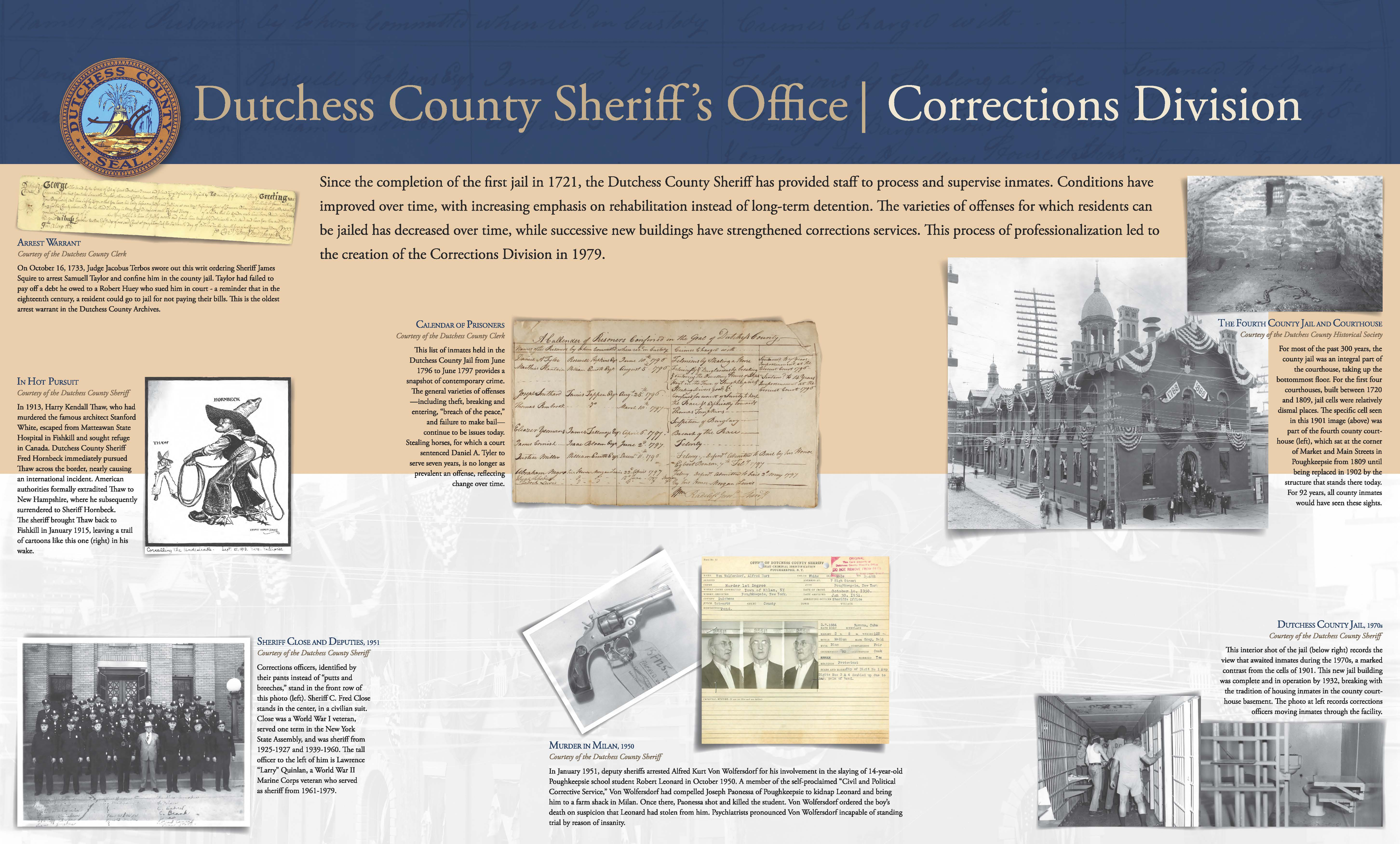 Dutchess County Sheriff's Office - Corrections Division - Panel 1