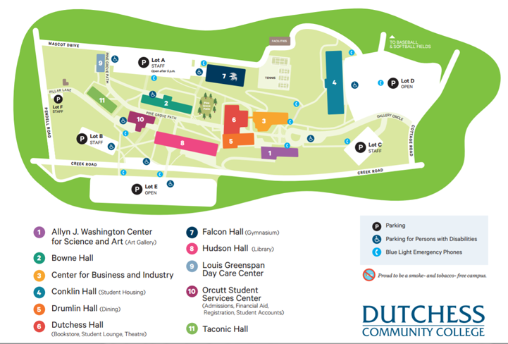 Drawing of the Dutchess Community College Campus.