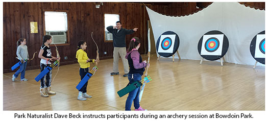 Archery session participants at Bowdoin Park