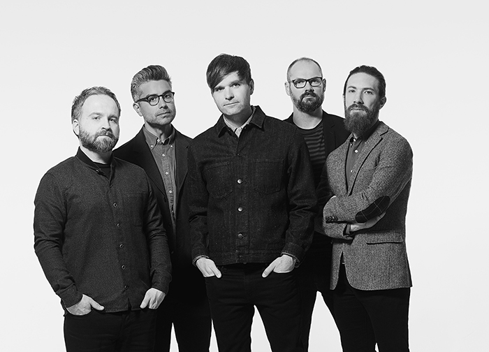 Photo of band members of Death Cab for Cutie