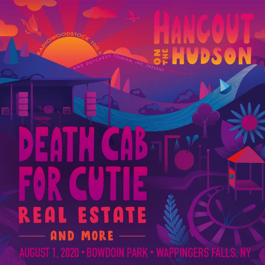 Graphic for Hangout on the Hudson Music Festival August 1st at Bowdoin Park.