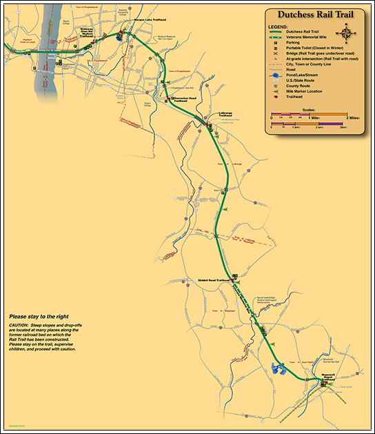 William R. Steinhaus Dutchess Rail Trail Map