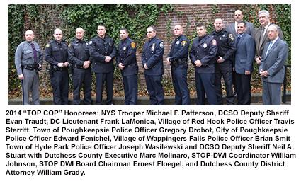 "2014 ""Top Cop"" honorees"