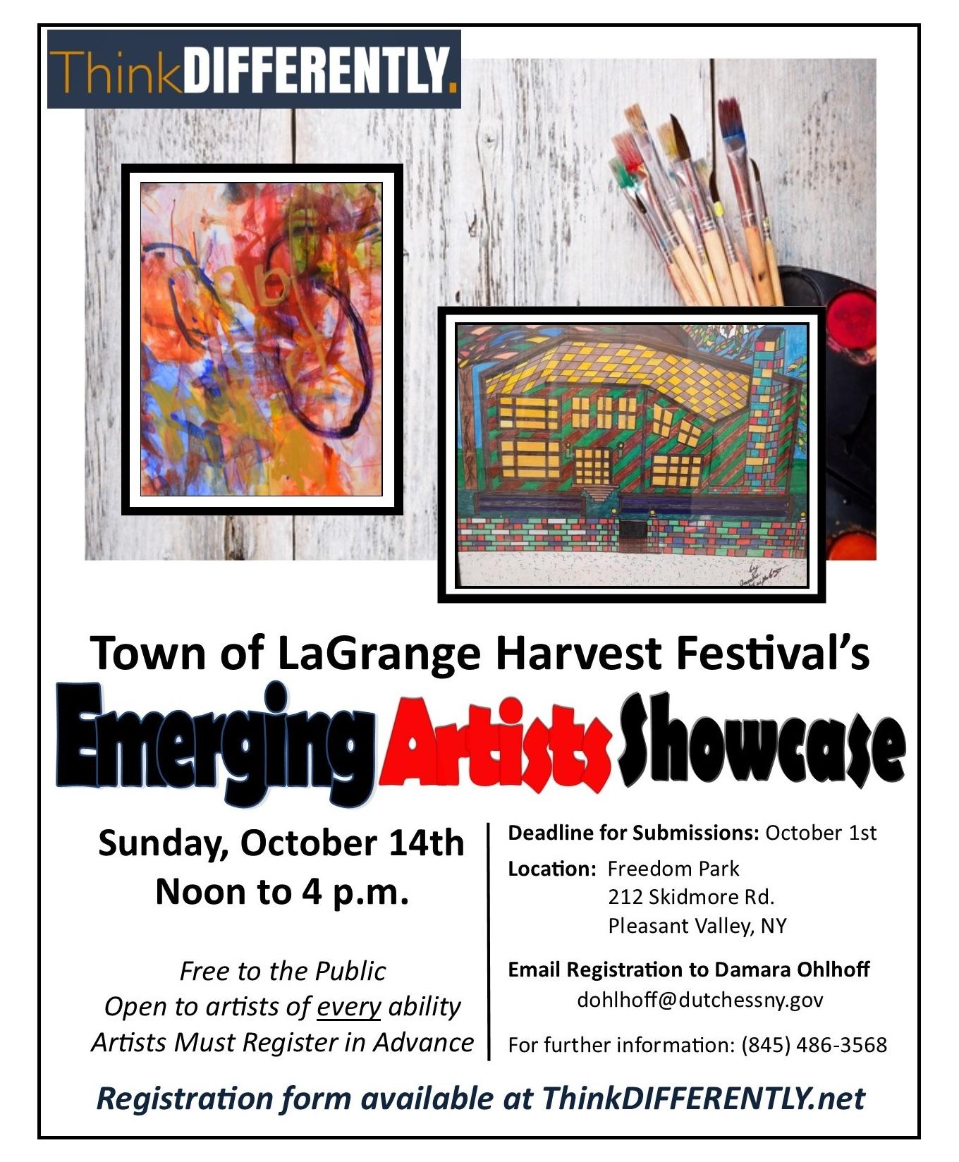Emerging Artists Showcase invitation