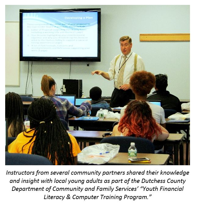 Young adults attending Youth Financial Literacy & Computer Training Program