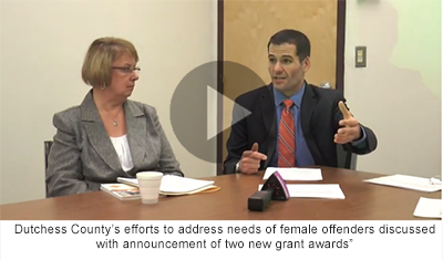 County Executive Molinaro discussing needs of female offenders