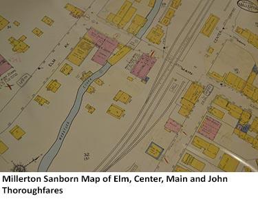 Millerton Sanborn Map of Elm, Center, Main and John Thoroughfares